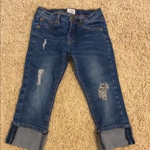 Hudson Capri with cuff distressed  jeans for girls
